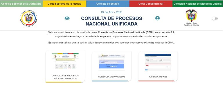 Consulta de procesos judicial unificada