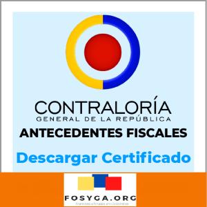 Certificado antecedentes fiscales-Contraloría