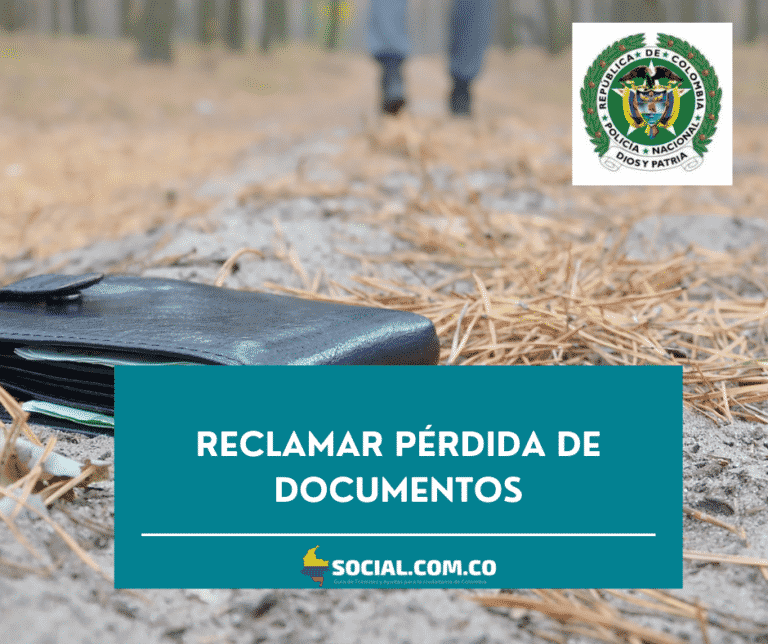 RECLAMAR PÉRDIDA DE DOCUMENTOS