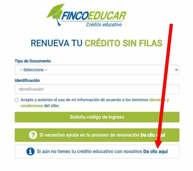 solicitar crédito educativo