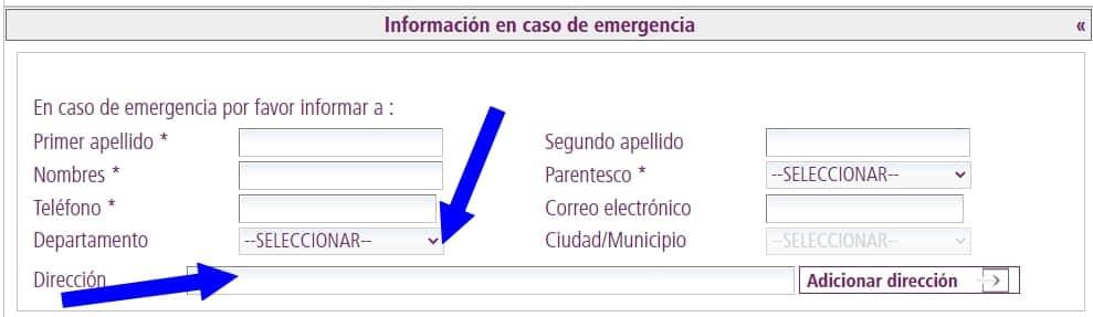 contacto de emergencia migración colombia