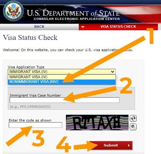 consultar estado de visa americana
