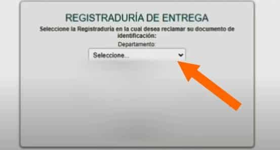 registraduría de entrega