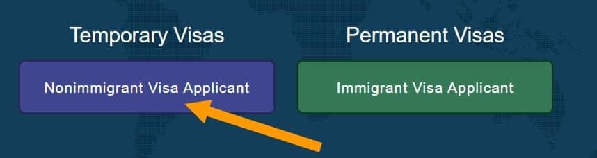 visa usa para no inmigrantes