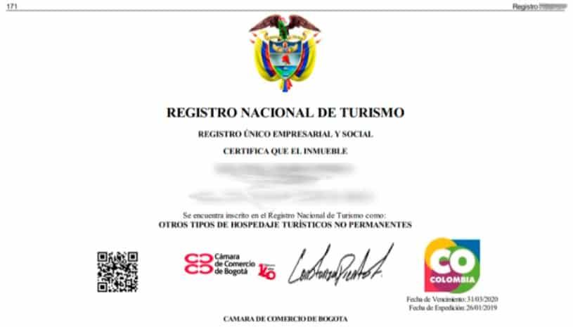 certificado RNT