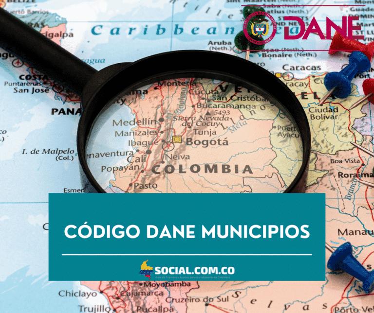código dane municipios