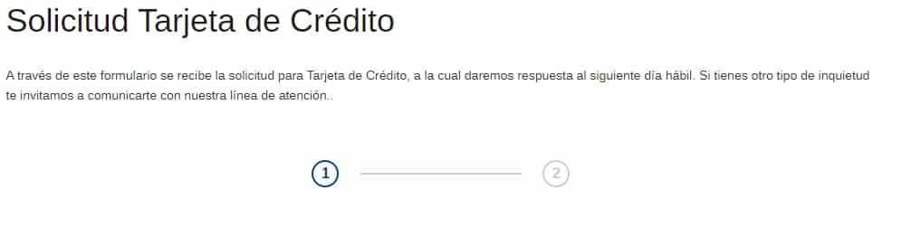 solicitud tarjeta bancolombia web oficial